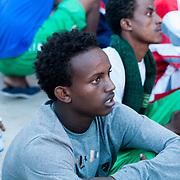ragazzo eritreo di religione cristiana sbacato a lampedusa a Luglio 2013