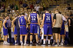 Players of KK Helios Suns during basketball match between KK Petrol Olimpija and KK Helios Suns in Playoffs of Liga Nova KBM 2017/18, on April 25, 2018 in Tivoli sports hall, Ljubljana, Slovenia. Photo by Urban Urbanc / Sportida