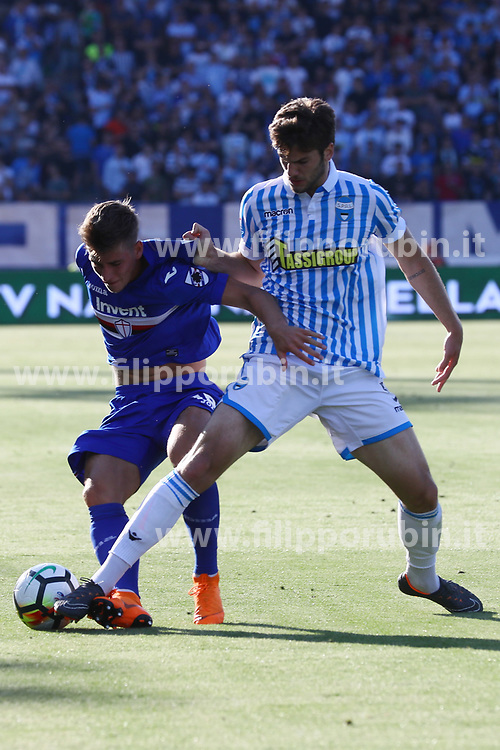"Foto LaPresse/Filippo Rubin<br /> 20/05/2018 Ferrara (Italia)<br /> Sport Calcio<br /> Spal - Sampdoria - Campionato di calcio Serie A 2017/2018 - Stadio ""Paolo Mazza""<br /> Nella foto: LORENCO SIMIC (SPAL)<br /> <br /> Photo LaPresse/Filippo Rubin<br /> May 20, 2018 Ferrara (Italy)<br /> Sport Soccer<br /> Spal vs Sampdoria - Italian Football Championship League A 2017/2018 - ""Paolo Mazza"" Stadium <br /> In the pic: LORENCO SIMIC (SPAL)"