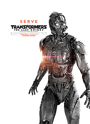 RELEASE DATE: June 21, 2017 TITLE: Transformers: The Last Knight STUDIO: Paramount Pictures DIRECTOR: Michael Bay PLOT: Autobots and Decepticons are at war, with humans on the sidelines. Optimus Prime is gone. The key to saving our future lies buried in the secrets of the past, in the hidden history of Transformers on Earth. STARRING: Poster Art. (Credit Image: ? Paramount Pictures/Entertainment Pictures/ZUMAPRESS.com)
