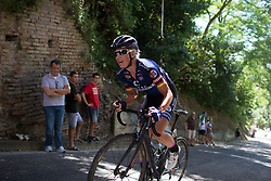 Charlotte Becker (GER) of Hitec Products Cycling Team rides near the top of the final climb of Stage 5 of the Giro Rosa - a 12.7 km individual time trial, starting and finishing in Sant'Elpido A Mare on July 4, 2017, in Fermo, Italy. (Photo by Balint Hamvas/Velofocus.com)