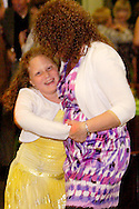 "Artist Hana Walchli (left) on the dance floor with her mom during CHA-CHA 2011, benefiting Dayton Children's Medical Center, held at Sinclair Community College's Ponitz Center, Saturday, May 14, 2011. With the theme, ""Reasons to Celebrate,"" proceeds from CHA-CHA 2011 will help fund purchase of Giraffe(r) Beds for the Newborn Intensive Care Unit at Dayton Children's."