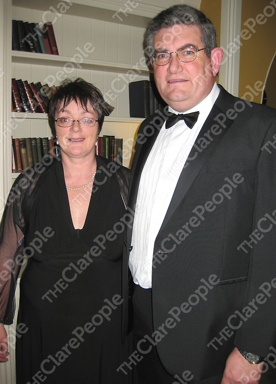 Isobel and Eamonn O'Dea at the Clare Law Association Ball in the Old Ground Hotel.