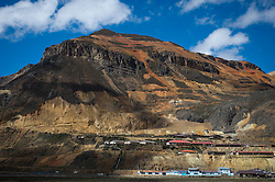 A partial view of the town of Morococha in Peru, at the foot of Mount Toromocho in the central Andes. Chinese mining company Chinalco hopes to relocate the town to build a mine.