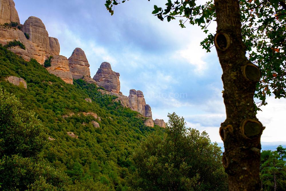 Serrat de la Portella, Las Agulles, Montserrat, mountain, Catalonia