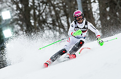 "Christian Hirschbuehl (AUT) competes during 1st Run of FIS Alpine Ski World Cup 2017/18 Men's Slalom race named ""Snow Queen Trophy 2018"", on January 4, 2018 in Course Crveni Spust at Sljeme hill, Zagreb, Croatia. Photo by Vid Ponikvar / Sportida"