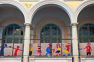 Roma, 08/06/2020: Attività didattiche, ludiche e artistiche organizzate dall'Associazione Genitori in occasione della fine della scuola. Scuola Di Donato.<br /> © Andrea Sabbadini