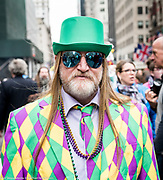 Easter Bonnet parade on Fifth Avenue in midtown Manhattan in New York City on April 1, 2018.
