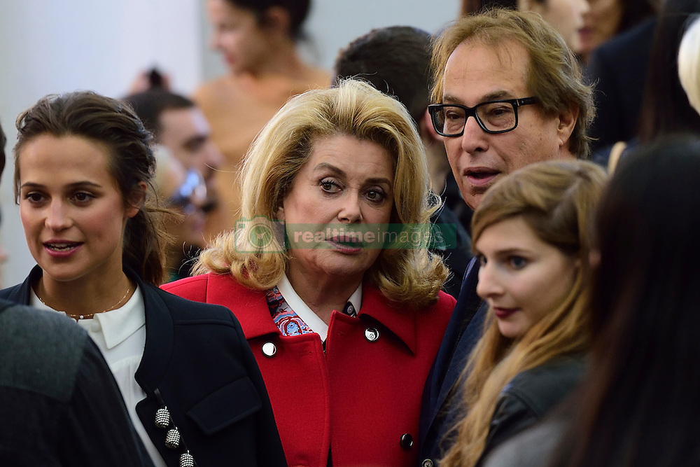 Catherine Deneuve attending the Louis Vuitton show as a part of Paris Fashion Week Ready to Wear Spring/Summer 2017 in Paris, France on October 05, 2016. Photo by Aurore Marechal/ABACAPRESS.COM