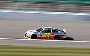 NASCAR Sprint Cup Series auto racing driver ___ at Kansas Speedway in Kansas City, Kan., Friday, Oct. 16, 2015. (AP Photo/Colin E. Braley)
