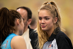 20-01-2019 NED: Talent Team Papendal - Sliedrecht Sport, Ede<br /> Round 15 of Eredivisie volleyball. Sliedrecht Sport win 3-0 (14-25, 14-25, 20-25) of Talent Team / Anna Zijl of Talent Team