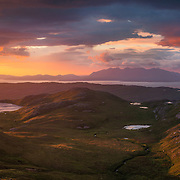 Isle of Skye across the Cuillin Sound from Barkeval, Isle of Rum