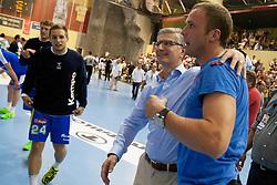 Uros Zorman of Slovenia after handball match between National teams of Slovenia and Hungary in play off of 2015 Men's World Championship Qualifications on June 15, 2014 in Rdeca dvorana, Velenje, Slovenia. Photo by Urban Urbanc / Sportida
