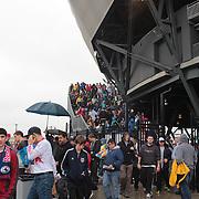 Crowds leave the stadium after the New York Red Bulls V Los Angeles Galaxy, Major League Soccer regular season match at Red Bull Arena, Harrison, New Jersey. USA. 19th May 2013. Photo Tim Clayton
