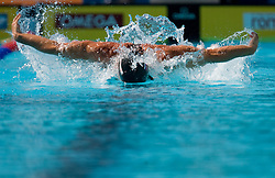 Peter Mankoc of Slovenia during the Men's  4x 100m Medley Relay Heats during the 13th FINA World Championships Roma 2009, on August 2, 2009, at the Stadio del Nuoto,  in Foro Italico, Rome, Italy. (Photo by Vid Ponikvar / Sportida)