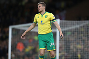 Norwich City defender Ryan Bennett during the EFL Sky Bet Championship match between Norwich City and Brighton and Hove Albion at Carrow Road, Norwich, England on 21 April 2017.