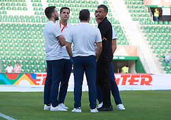 September 11, 2018 - Elche, U.S. - ELCHE, SPAIN - SEPTEMBER 11: Luis Enrique Martinez talking to your teammates of coaches before the start of the UEFA Nations League A Group four match between Spain and Croatia on September 11, 2018, at Estadio Manuel Martinez Valero in Elche, Spain. (Photo by Carlos Sanchez Martinez/Icon Sportswire) (Credit Image: © Carlos Sanchez Martinez/Icon SMI via ZUMA Press)