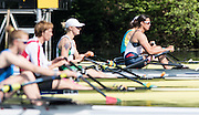 Lucerne, SWITZERLAND<br /> <br /> SRB. W1X. Iva OBRADADOVIC, waiting at the start for her heat to start, at the 2016 European Olympic Qualifying Regatta, Lake Rotsee.<br /> <br /> Sunday  22/05/2016<br /> <br /> [Mandatory Credit; Peter SPURRIER/Intersport-images]