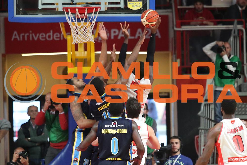O.D. Anosike<br /> Openjobmetis Pallacanestro Varese - Vanoli Cremona<br /> Lega Basket Serie A 2016/2017<br /> Varese 30/04/2017<br /> Foto Ciamillo-Castoria