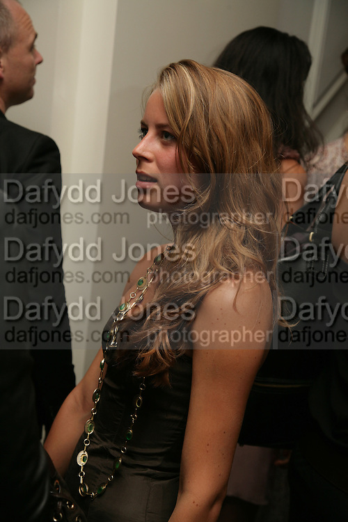 Lydia Forte , Garrard Colour And Cocktail Party, Garrard, 24 Albemarle Street, London. 10 May 2007. -DO NOT ARCHIVE-© Copyright Photograph by Dafydd Jones. 248 Clapham Rd. London SW9 0PZ. Tel 0207 820 0771. www.dafjones.com.