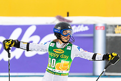 DELLA MEA Lara of Italy reacts upon entering the Finish during the 6th Ladies' Slalom at 55th Golden Fox - Maribor of Audi FIS Ski World Cup 2018/19, on February 2, 2019 in Pohorje, Maribor, Slovenia. Photo by Blaž Weindorfer / Sportida