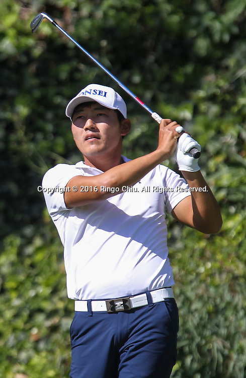 Sung Kang plays in the Final Round of the Northern Trust Open at the Riviera Country Club on February 21, 2016, in Los Angeles,(Photo by Ringo Chiu/PHOTOFORMULA.com)<br /> <br /> Usage Notes: This content is intended for editorial use only. For other uses, additional clearances may be required.