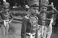 Children dressed as soldiers as part of the National Childrens Day celebrations in Bishkek,  Kyrgyzstan.