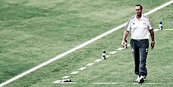 13.07.2010, Red Bull Arena, Salzburg, AUT, UEFA CL, Red Bull Salzburg vs HB Torshavn im Bild Huub Stevens, Red Bull Salzburg, Trainer, wenig sättigung, Bild bearbeitet, EXPA Pictures © 2010, PhotoCredit: EXPA/ J. Feichter / SPORTIDA PHOTO AGENCY