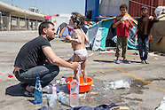 Refugees at Piraeus port, 19-21.04.16