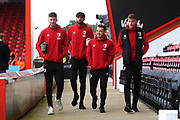 Jack Simpson, Philip Billing, Ryan Fraser, and Jack Stacey of AFC Bournemouth arrive ahead of the Premier League match between Bournemouth and Liverpool at the Vitality Stadium, Bournemouth, England on 7 December 2019.