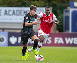BOREHAMWOOD, ENGLAND - Saturday, September 28, 2019: Liverpool's Neco Williams during the Under-23 FA Premier League 2 Division 1 match between Arsenal FC and Liverpool FC at Meadow Park. (Pic by Kunjan Malde/Propaganda)