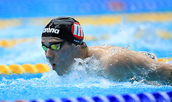 Thomas Pain competes in the Men's Open 400m Individual Medley heats during day three of the 2017 British Swimming Championships at Ponds Forge, Sheffield.