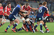 Dominic Bird during the Super Rugby match between The Blues and Crusaders at Eden Park in Auckland, New Zealand. Saturday 6 June 2015. Copyright Photo: Andrew Cornaga / www.Photosport.co.nz