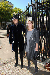 Left to right, SELINA BLOW and LAVINIA DELVES-BROUGHTON, sister of Issy Blow at the memorial service of Isabella Blow held at the Guards Chapel, London W1 on 18th September 2007.<br /><br />NON EXCLUSIVE - WORLD RIGHTS