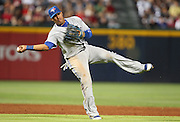 ATLANTA, GA - JUNE 08:  Shortstop Yunel Escobar #5 of the Toronto Blue Jays during the game against the Atlanta Braves at Turner Field on June 8, 2012 in Atlanta, Georgia.  (Photo by Mike Zarrilli/Getty Images)
