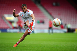 Bristol City's Sam Baldock shoots - Photo mandatory by-line: Dougie Allward/JMP - Tel: Mobile: 07966 386802 27/03/2013 - SPORT - FOOTBALL - Goldsands Stadium - Bournemouth -  Bournemouth V Bristol City - Pre Season friendly
