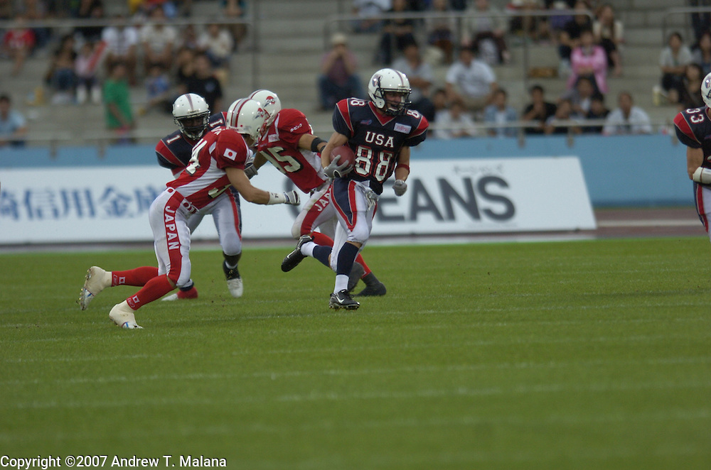 Team USA vs Team Japan..Bob Awrey in action against Team Japan during the Gold Medal game at Todoroki Stadium.