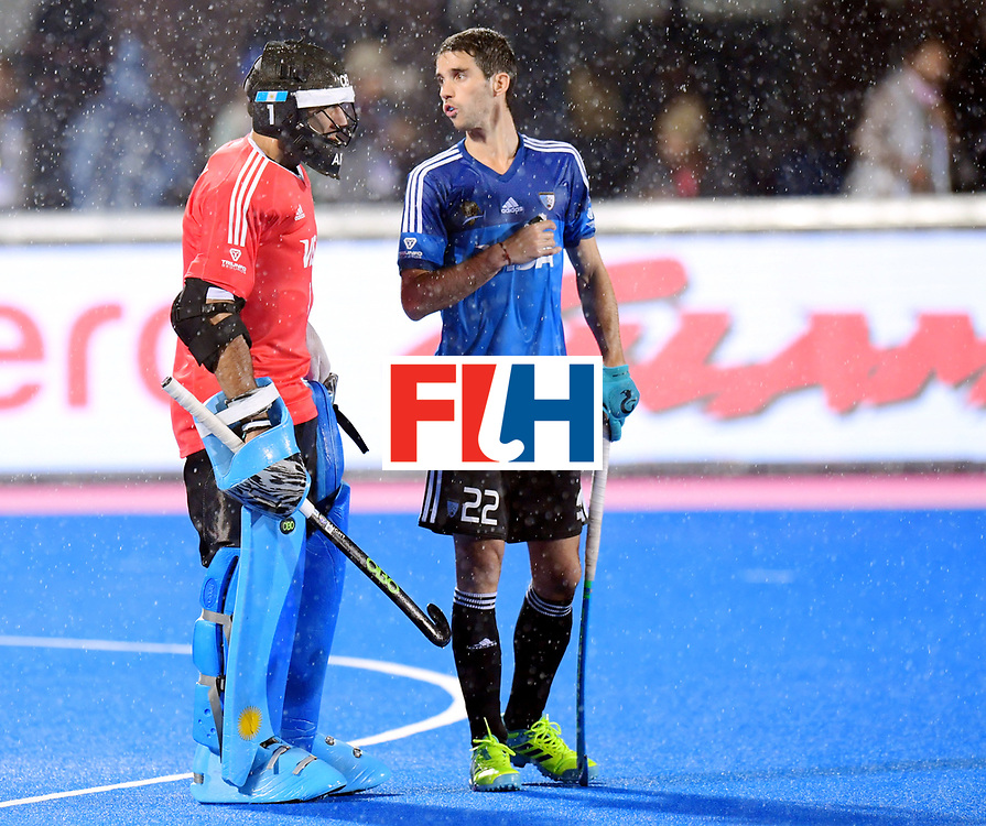 Odisha Men's Hockey World League Final Bhubaneswar 2017<br /> Match id:19<br /> India v Argentina<br /> Foto: Matias Rey (Arg) and keeper Juan Vivaldi (Arg) <br /> COPYRIGHT WORLDSPORTPICS FRANK UIJLENBROEK
