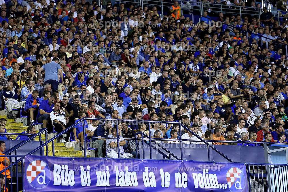 21.08.2013, Maksimir Stadion, Zagreb, CRO, UEFA CL Qualifikation, GNK Dinamo Zagreb vs FK Austria Wien, Hinspiel, im Bild Navijaci Dinama napunili su stadion. <br />