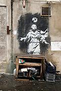 Naples, Italy, 2006-Graffiti in a Neapolitan alley
