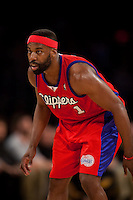 15 January 2010: Guard Baron Davis of the Los Angeles Clippers against the Los Angeles Lakers during the first half of the Lakers 126-86 victory over the Clippers at the STAPLES Center in Los Angeles, CA.