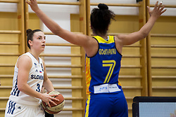 Teja Oblak of Slovenia during basketball match between National teams of Slovenia and Romania in 4. round of FIBA Women's EuroBasket 2019 Qualifiers, on February 14, 2018 in Dvorana Gimnazija Celje - Center, Slovenia. Photo by Urban Urbanc / Sportida
