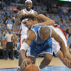 01 November 2008: New Orleans Hornets forward David West (30) reaches for a loose ball as Cleveland Cavaliers forward Anderson Varejao (17) defends during a 104-92 win by the New Orleans Hornets over the Cleveland Cavaliers at the New Orleans Arena in New Orleans, LA..