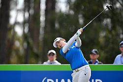 January 19, 2019 - Lake Buena Vista, FL, U.S. - LAKE BUENA VISTA, FL - JANUARY 19: Eun-Hee Ji of South Korea tees off on hole 2 during the third round of the Diamond Resorts Tournament of Champions on January 19, 2019, at Tranquilo Golf Course at Fours Seasons Orlando in Lake Buena Vista, FL. (Photo by Roy K. Miller/Icon Sportswire) (Credit Image: © Roy K. Miller/Icon SMI via ZUMA Press)