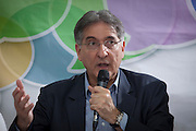 Manhuacu_MG, Brasil.<br /> <br /> Pre-candidato ao governo de Minas Gerais, Fernado Pimentel, discursa para prefeitos e lideranças em Manhuacu.<br /> <br /> Pre-candidate for governor of Minas Gerais, Fernando Pimentel, speaks to mayors and leaders in Manhuacu.<br /> <br /> Foto: ALEXANDRE MOTA / NITRO