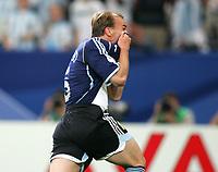 2:0 Jubel Esteban Cambiasso Argentinien<br /> Fussball WM 2006 Argentinien - Serbien Montenegro<br /> Argentina - Serbia Montenegro<br />  Norway only