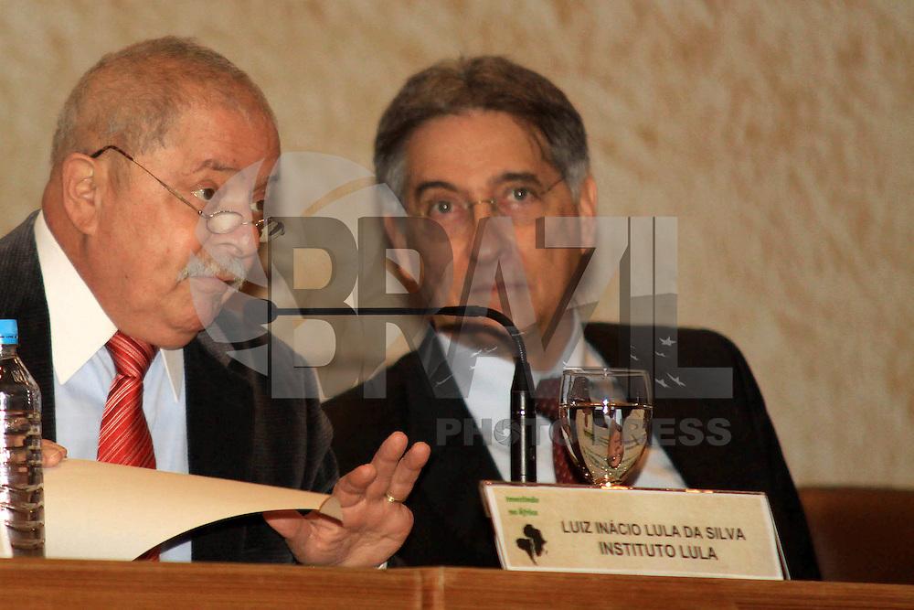 RIO DE JANEIRO, RJ, 03 MAIO 2012 - ENCONTRO BRASIL X AFRICA - O ex-presidente Luiz Inácio Lula da Silva, durante o seminário sobre cooperação do Brasil com a África, que marcou o início da comemoração dos 60 anos do BNDES, no Rio de Janeiro, nesta quinta-feira - FOTO: GUTO MAIA - BRAZIL PHOTO PRESS.