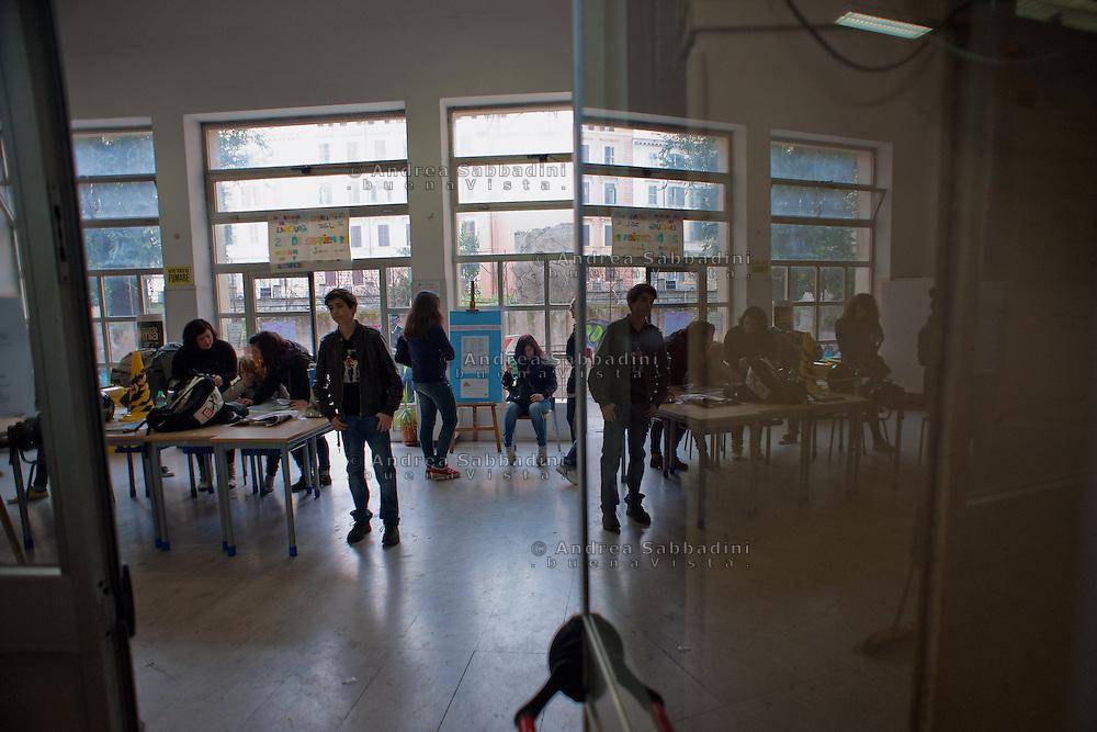 Rome, 24/11/2012: Liceo Machiavelli occupato.<br /> &copy;Andrea Sabbadini