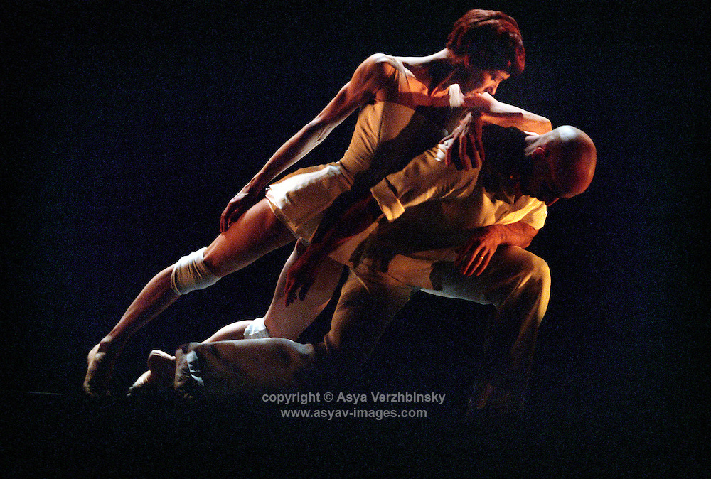 Sylvie Guillem and Russell Maliphant in Push, Sadlers Wells Theatre, London.