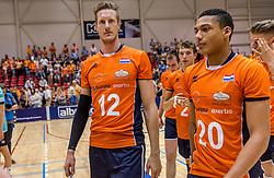 04-06-2016 NED: Nederland - Duitsland, Doetinchem<br /> Nederland speelt de tweede oefenwedstrijd in Doetinchem en verslaat Duitsland opnieuw met 3-1 / Kay van Dijk #12, Fabian Plak #20